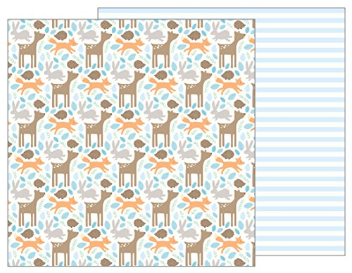 American Craft Baby Paper - American Crafts Woodland Baby Boy 25 Pack of 12 x 12 Inch Patterned Paper, Piece