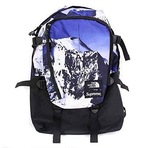 (シュプリーム) SUPREME 【17AW】【The North Mountain Expedition Backpack】マウンテン総柄バックパック(ブルー) 中古 B07DMJCT3H