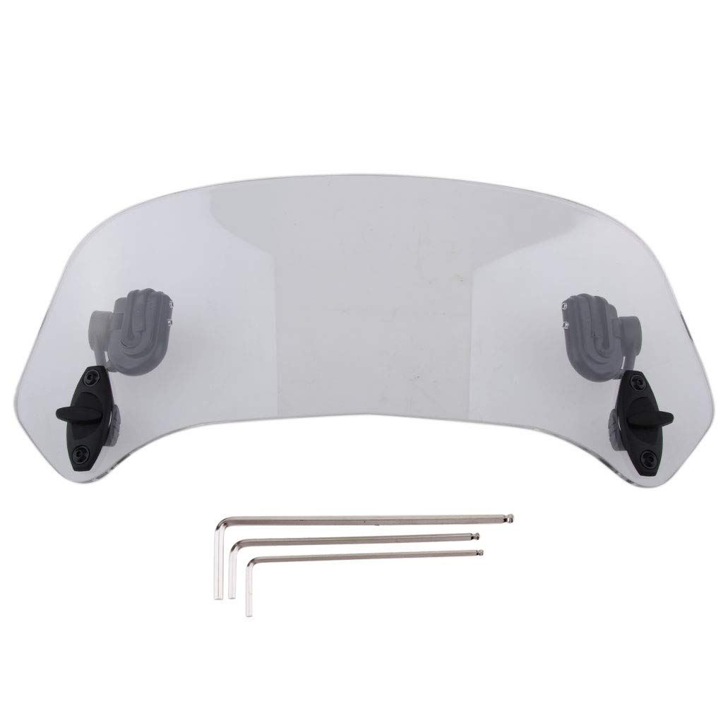 B Blesiya 37cm Motorcycle Clip-on Windshield Windscreen Extension Deflector Universal