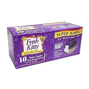 Fresh Kitty Super Jumbo Super-Thick Litter Box Liners 72
