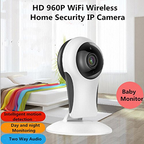 Pettstore Wireless Security Camera, 960P HD WiFi IP Camera Home Security Surveillance System With 2.4GHz Night Vision Webcam Wall-mounted For Elder/ Pet /Baby Monitor (US Regulations, White) by Pettstore