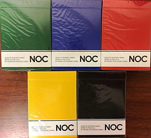 NOC Original 5 Deck Set Playing Cards Poker Size USPCC HOPC Custom Limited by HOPC