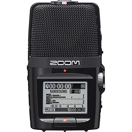 Zoom H2n Handy Digital Recorder along With Samson Studio Headphones and Deluxe Accessory Bundle