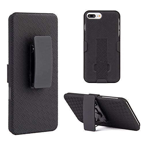 iPhone 7 Plus/8 Plus Case, Dreamwireless Stand Rubberized Hard Snap-in Holster Case Cover for Apple iPhone 7 Plus/8 Plus, ()