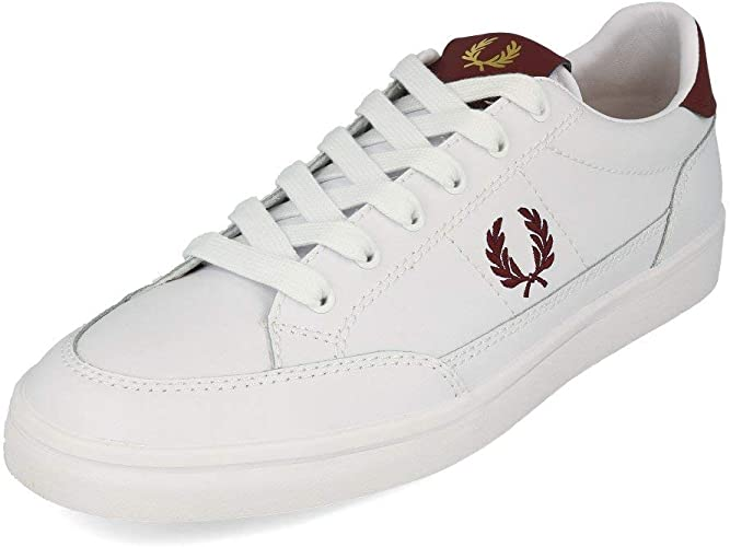 Fred Perry Deuce Leather White White