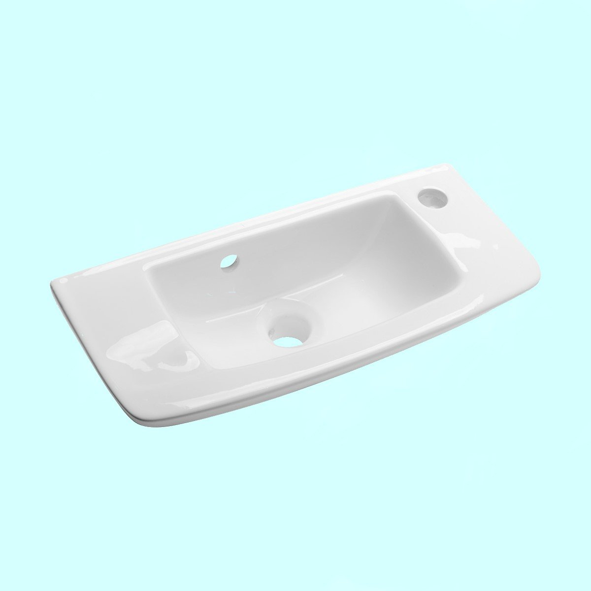 Swell 20 Small Wall Mount Sink White With Overflow Rectangle Space Saving Compact Design Scratch And Stain Resistant Porcelain Ceramic Renovators Supply Home Interior And Landscaping Sapresignezvosmurscom