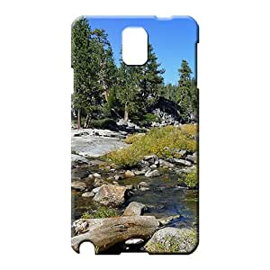 samsung note 3 Extreme Designed pattern mobile phone shells rocky stream in yosemite