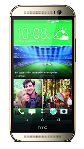 HTC One M8 32GB Unlocked GSM 4G LTE Android Smartphone - Amber Gold (Best Micro Sd Card For Htc One M8)