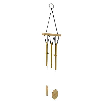 Ratnatraya Feng Shui Vastu Golden Rod Wind Chime Walldoor Hanging