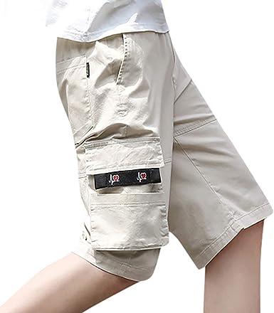 VPASS Pantalones Hombre Verano Casual Moda Trabajo Corta ...
