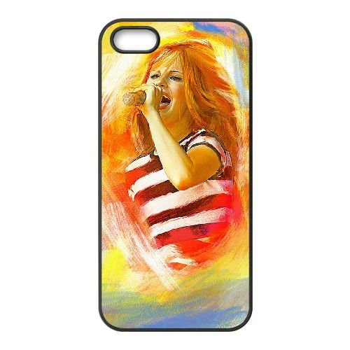 Hayley Williams 001 coque iPhone 5 5S cellulaire cas coque de téléphone cas téléphone cellulaire noir couvercle EOKXLLNCD24323