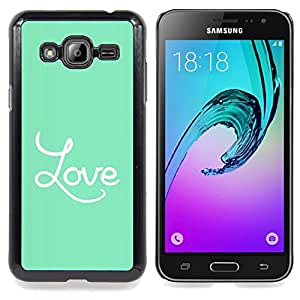 Eason Shop / Premium SLIM PC / Aliminium Casa Carcasa Funda Case Bandera Cover - Auriculares Blanca - For Samsung Galaxy J3 GSM-J300