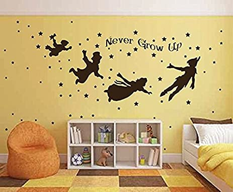 Amazon.com: ik2799 Wall Decal Sticker Peter Pan fairy tale of Big ...