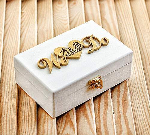 Wedding ring box Lace ring box Ivory ring box Wood box, Wedding pillow Personalized ring box Gold Wedding ring bearer box