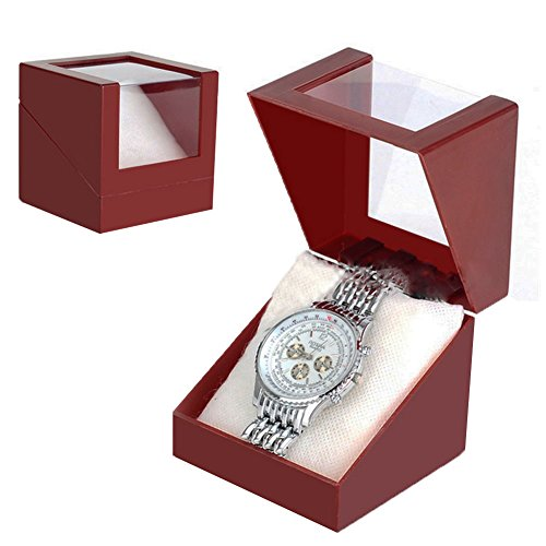 Plastic Transparent Watch (Date Red Plastic Jewelry Earring Display Case Transparent Wristwatch Storage Box (Date Red))