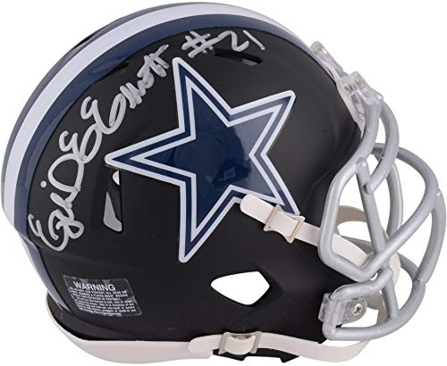 Ezekiel Elliott Dallas Cowboys Autographed Riddell Black Matte Alternate Speed Mini Helmet - Fanatics Authentic Certified