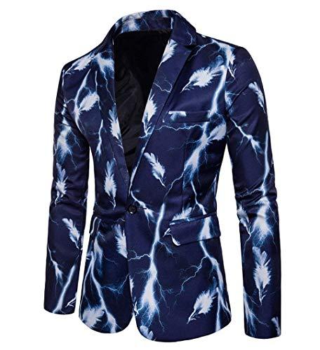 Taglie Abiti Giacche Il Bottone Comode Libero Hx Per Giacca Blazer Da Tempo Fashion Un Uomo Blau gwnxgS6q0p