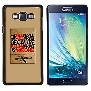 Caucho caso de Shell duro de la cubierta de accesorios de protección BY RAYDREAMMM - Samsung Galaxy A7 A7000 - matar a las armas máquina cartel de la guerra inspirador