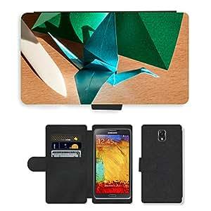 PU LEATHER case coque housse smartphone Flip bag Cover protection // M00150811 Origami Arte De Papel plegable plegable // Samsung Galaxy Note 3 III N9000 N9002 N9005