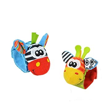 Lovely Infant Baby Foot Socks Wristand Rattles Toys Type 2