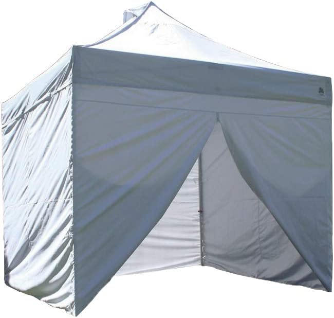 Undercover 10 x 10 Commercial Hybrid Solid-CoreInstant Canopy with Sidewall Enclosure