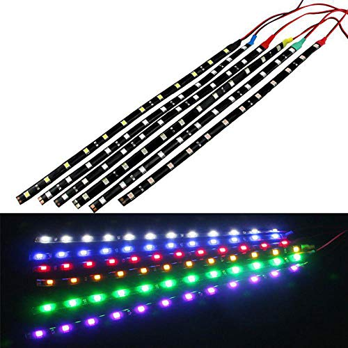 100 X 30CM Led Strips 3528 Patch Car 1210 SMD 15 LED Strip Chassis Soft Article Lamp Traffic Wheel Light White Red Blue Yellow White (Chassis Codes Mercedes)