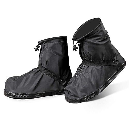 シューズカバー 防水 靴カバー 携帯可 雨 雪 泥除け 梅雨对策 レインカバー 靴の保護 滑り止め お手入れ簡単 軽量 自転車 登山 雨具 通勤通学  男女兼用