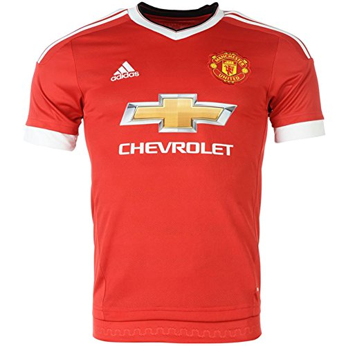 adidas Kids Manchester United Home Soccer Jersey 2015/16 (Red) Youth Medium ()