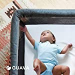 GUAVA-FAMILY-Lotus-Crib-100-Cotton-Fitted-Sheet-Perfect-Manufacturer-Approved-Fit-Soft-Safe-for-Infants-Baby-and-Toddlers-Unisex-Boys-Girls-Fits-Both-Velcro-Buckle-Versions-White