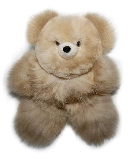 Amazon Com Incatrade 12 Inch Beige Alpaca Fur Teddy Bear 100
