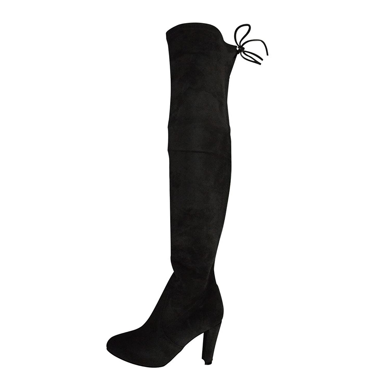 Kaitlyn Pan Microsuede High Heel Over The Knee Thigh High Boots