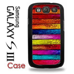 Samsung Galaxy S3 Plastic Case - Color Wood Pattern Print very colorful