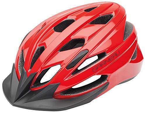 (Louis Garneau Eagle Lightweight, Adjustable, CPSC Safety Certified Bike Helmet for Men and Women, Red (2019))