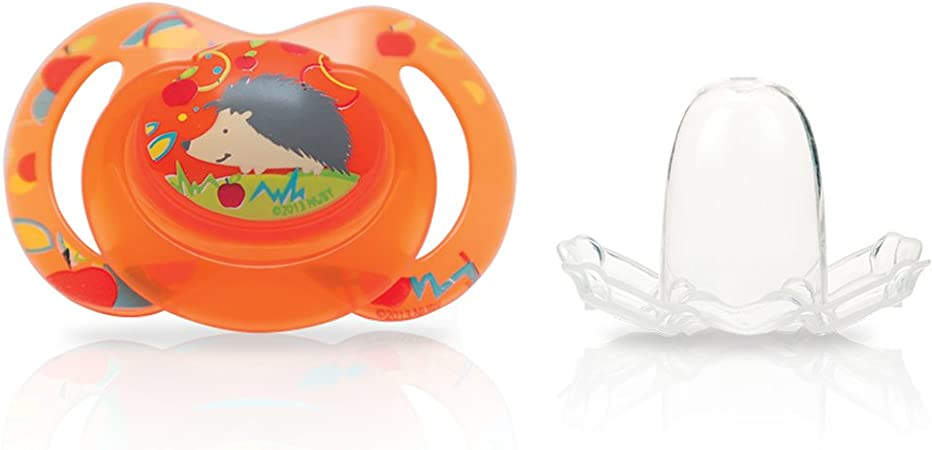 Nuby Bowtie - Chupete clásico oval, 6-12 meses: Amazon.es: Bebé