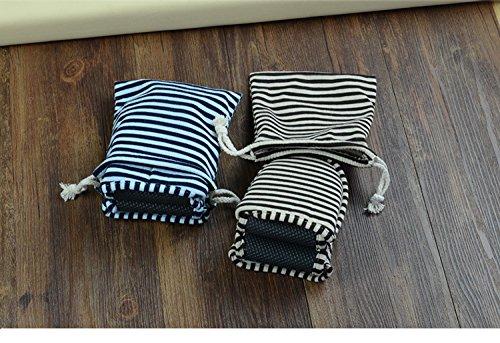 Cotone Slipper Una coppia Blu Esterni pieghevole portatile non monouso