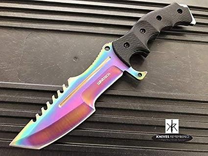 Amazon.com: Monograma, cuchillo, cuchillos, cuchillo de caza ...