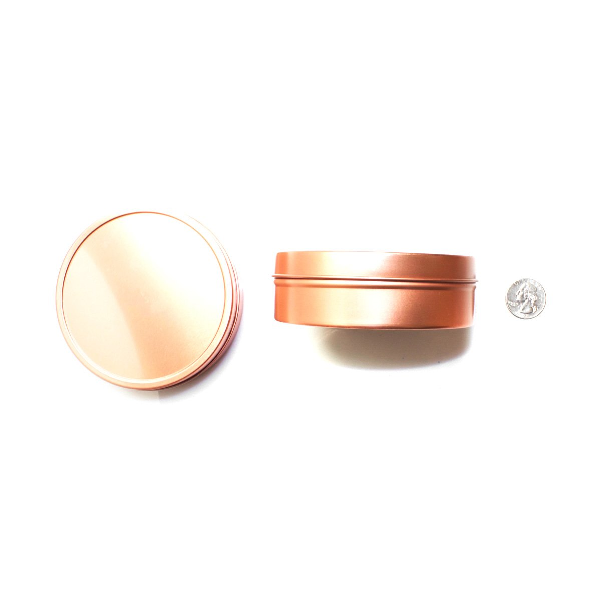Mimi Pack ALL Shallow Solid Slip Top Tins (8 oz, Rose Gold) by Mimi Pack (Image #8)