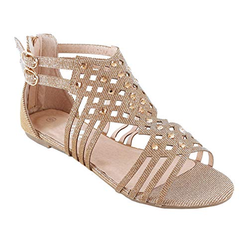 Guilty Heart - Womens Summer Strappy Gladiator Bead