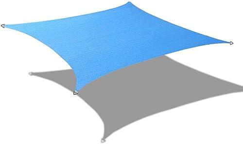 Alion Home 9.5 x 15 Rectangle PU Waterproof Woven Sun Shade Sail 2, Sky Blue