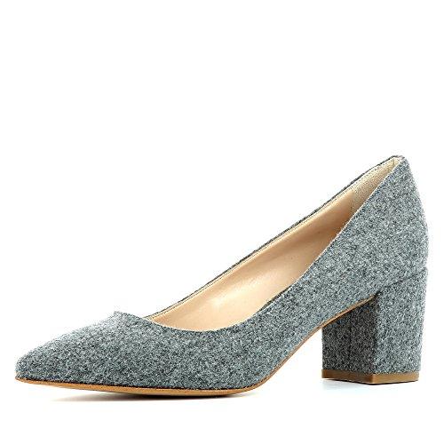 Evita Feutre Gris Escarpins Shoes Femme Romina WaTn0WR