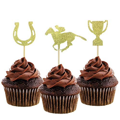 Derby Decorations - Morndew 24 PCS Kentucky Derby Equestrian