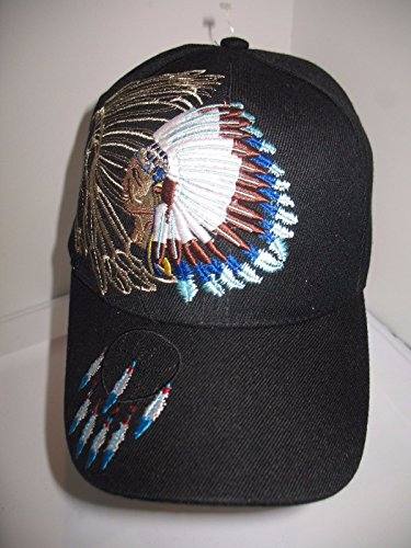 Native American Indian Shadow Dream Catcher Black Baseball Ball Cap Hat Shadow Baseball Cap Hat