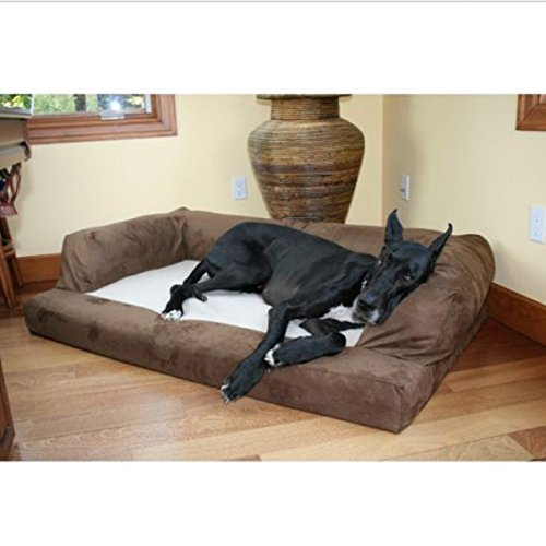 Great Dane Dog Bed English Mastiff Machine washable, air dry ,Extra Large Orthopedic XXL Pet Big Couch Sofa, Microsuede Chocolate (Extra Large Cuddler Dog Bed compare prices)
