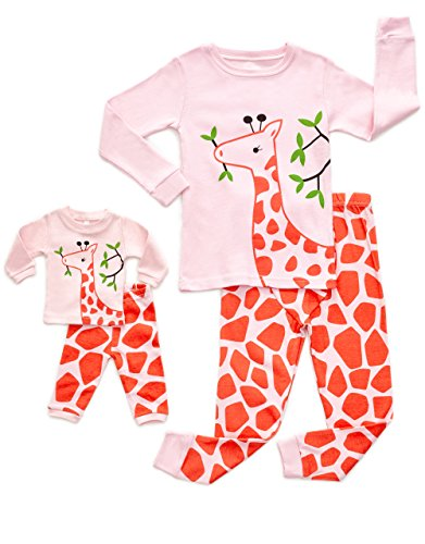 DinoDee Matching Doll Giraffe Pajama 6 Years