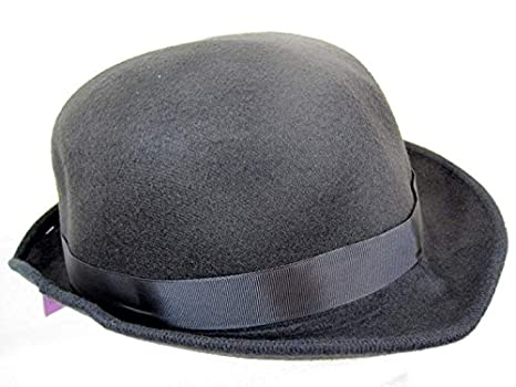 98815003854 Black One Size Fits All Hat Bowler Felt Laurel hardy Victorian ...