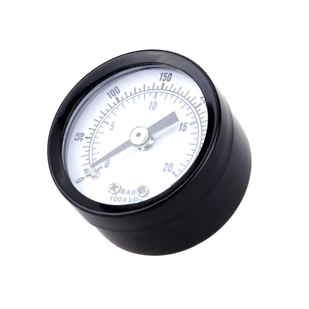 Demino 0-20bar 0-300psi Mini jauge de Pression pneumatique compresseur dair manom/ètre Compteur Pression du Fluide hydraulique testeur