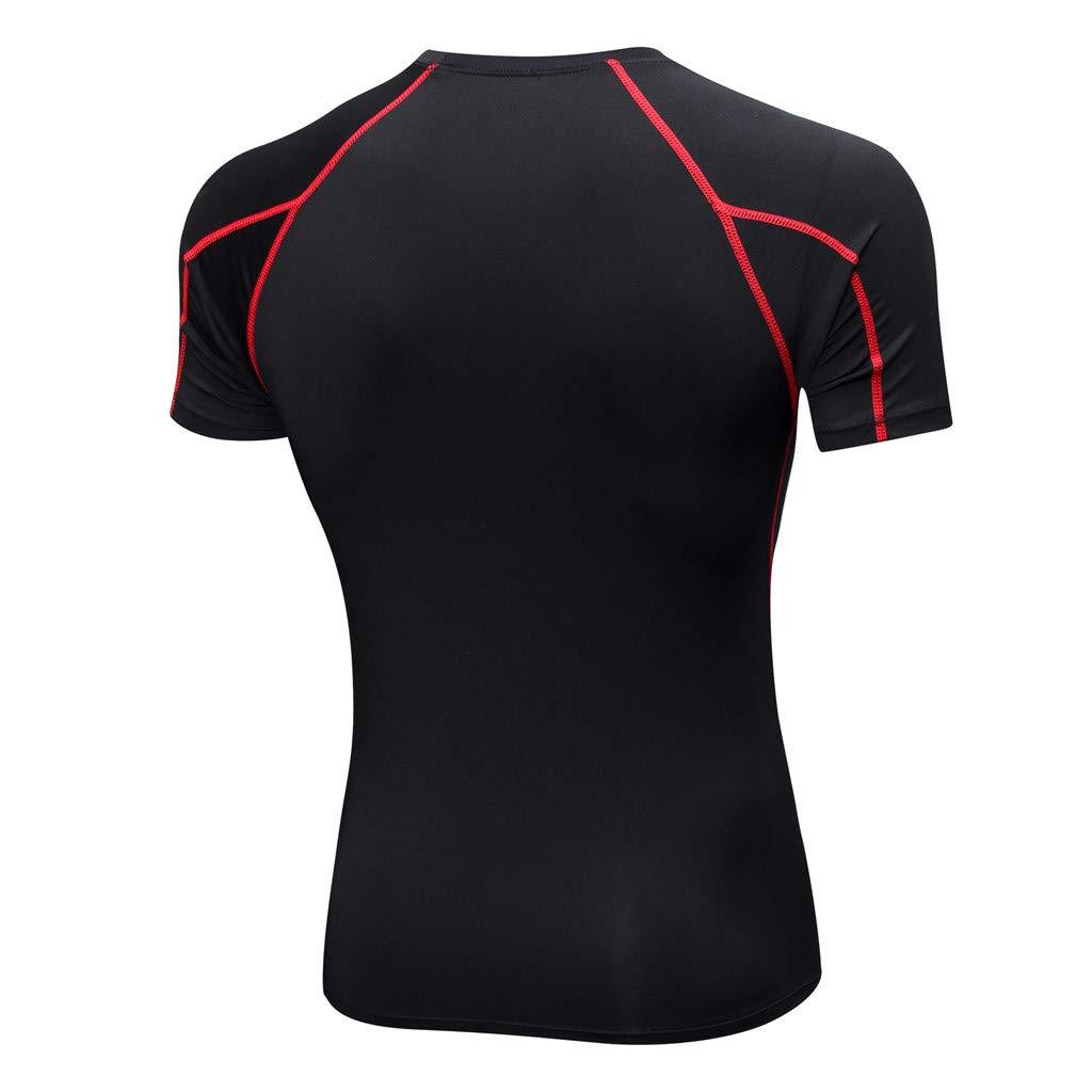 LMMET Maglietta a Compressione Uomo Manica Corta Sport Baselayer Asciugatura Rapida T-Shirt
