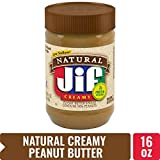 Jif Natural Creamy Peanut Butter Spread, 16 oz. - 7g (7% DV) of Protein per Serving, Smooth, Creamy Texture - No Stir Natural Peanut Butter