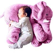 Rainbow Fox Baby Grey Stuffed Elephant Plush Pillows Pre-Kindergarten Toys (purple)