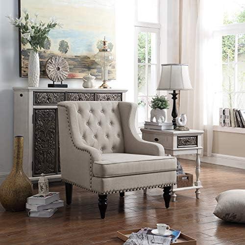 Rosevera Rosso Club Chair, Beige